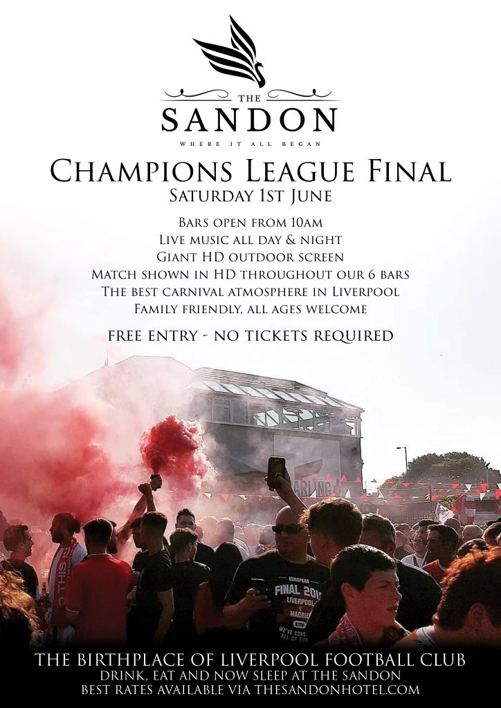 Champions League Final At The Birthplace Of Liverpool